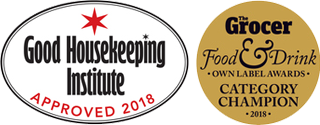 Good Housekeeping Institute Approved 2018 & Grocer Food and Drink 2018