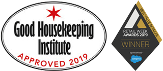 Good Housekeeping Institute Approved 2019 & Retail Week Awards 2019