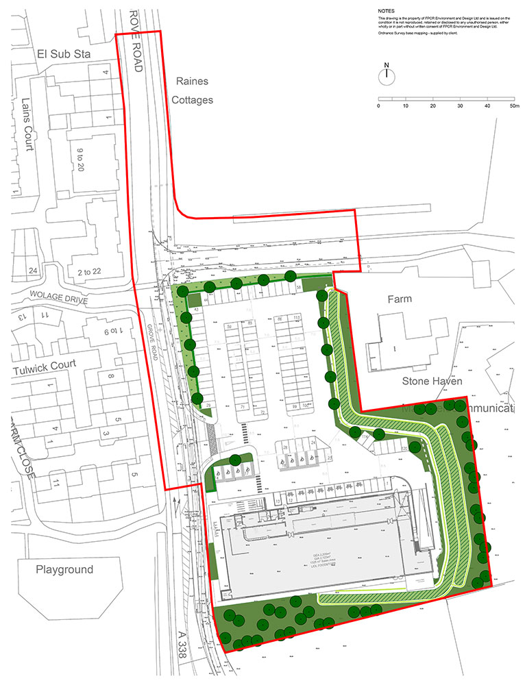 Lidl Grove Site Plan